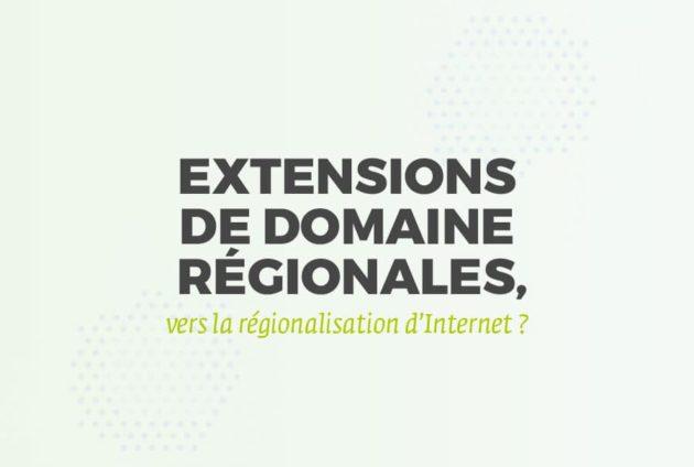 Article du blog Ineolab : Extensions de domaine régionales: vers la régionalisation d'Internet? (infographie)