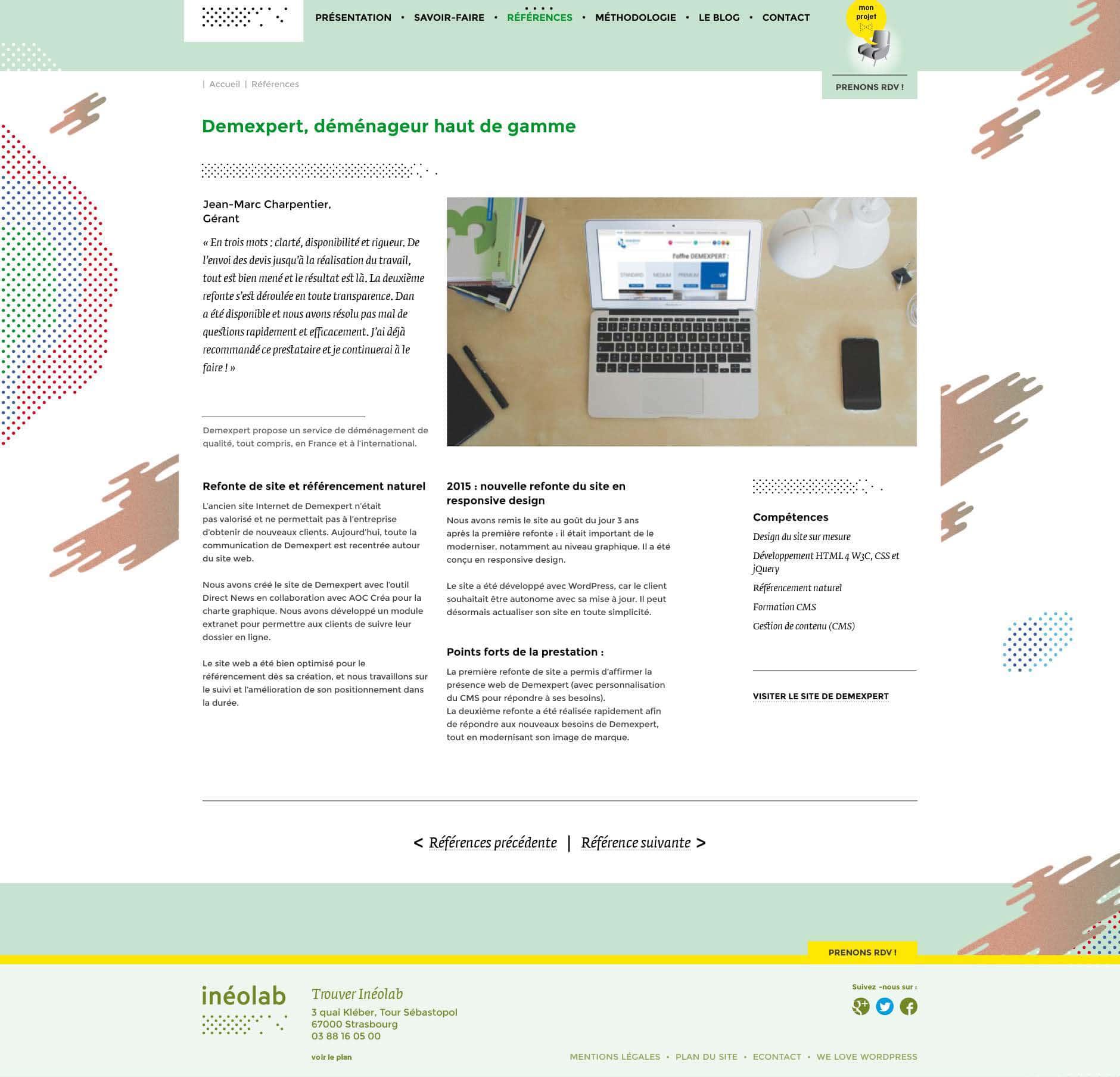 maquette web inéolab 2017