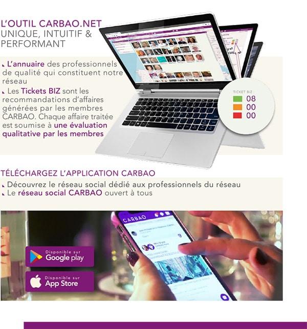 plateforme web CARBAO et app mobile