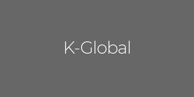 K Global logo noir et gris pour inéolab