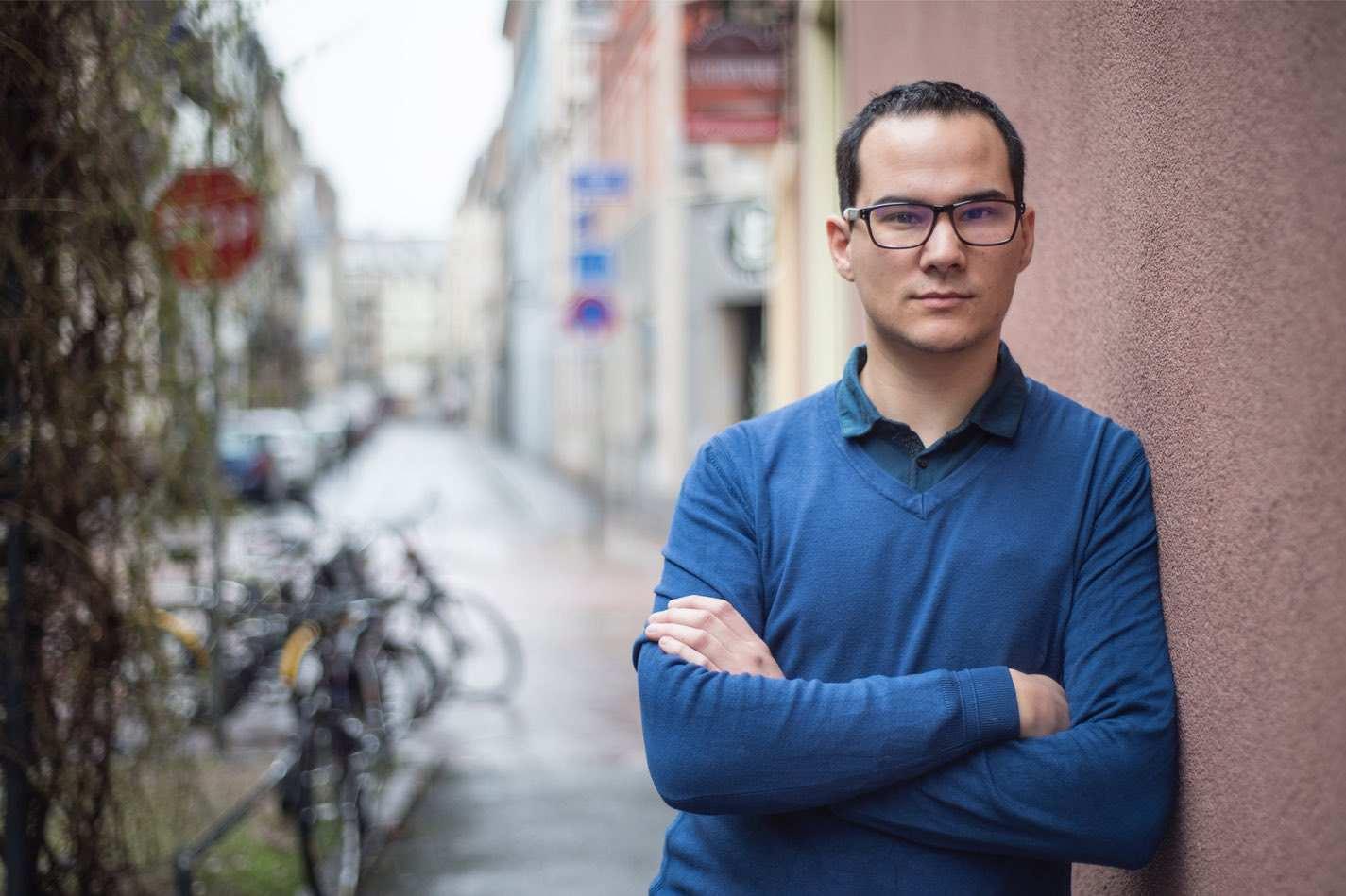 Dan Bernier Portrait dans la rue à Strasbourg
