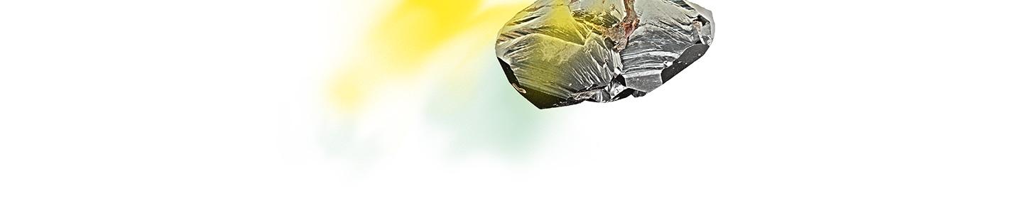 rocher dessous jaune vert pale
