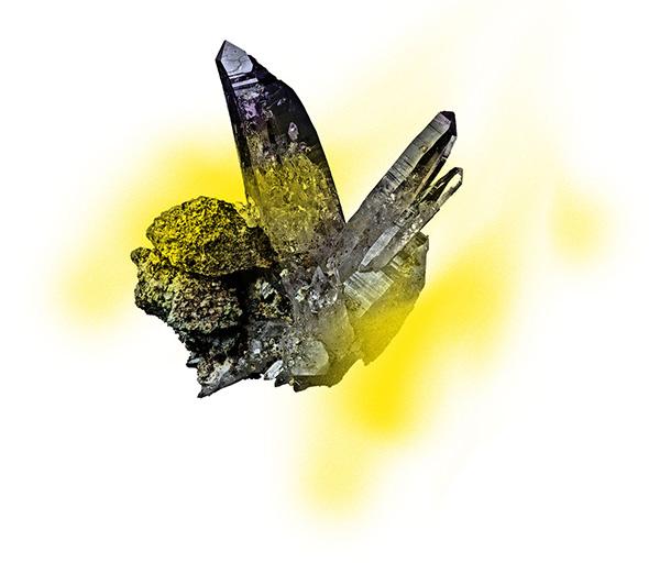 rocher plein jaune