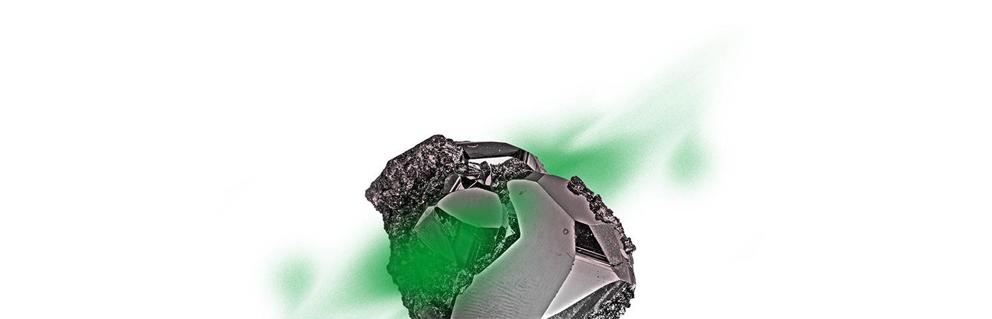 rocher dessus vert