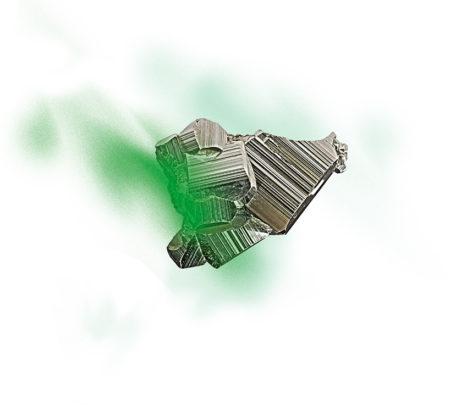 rocher plein vert foncé fond blanc