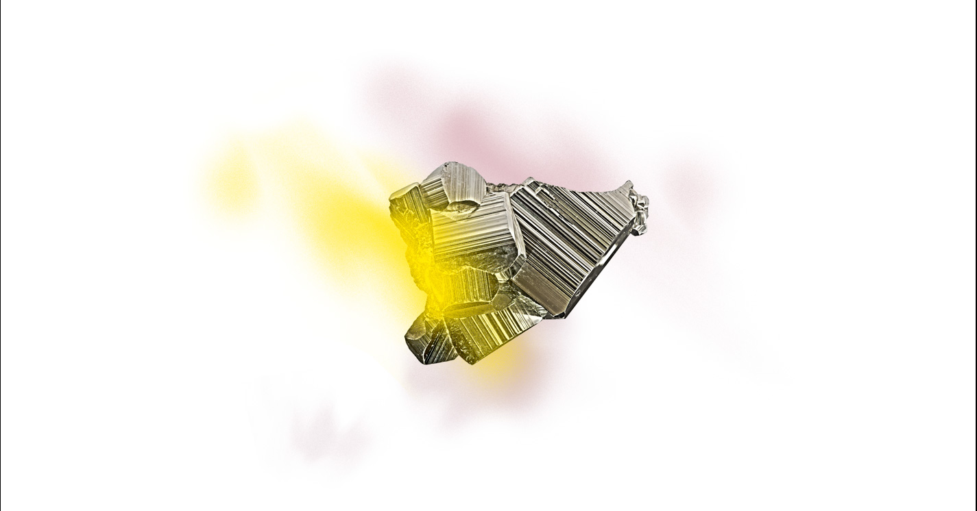 rocher rose jaune plein