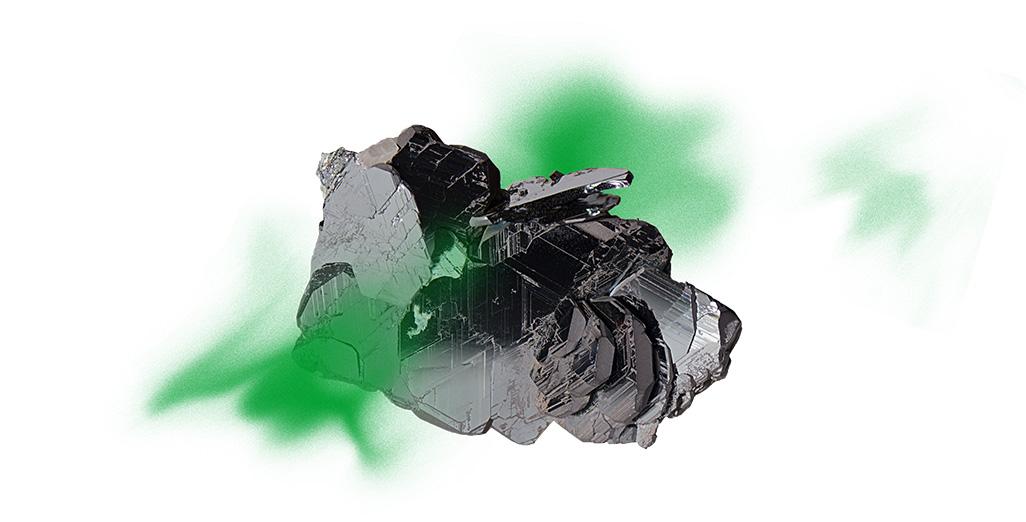 rocher vert fond blanc