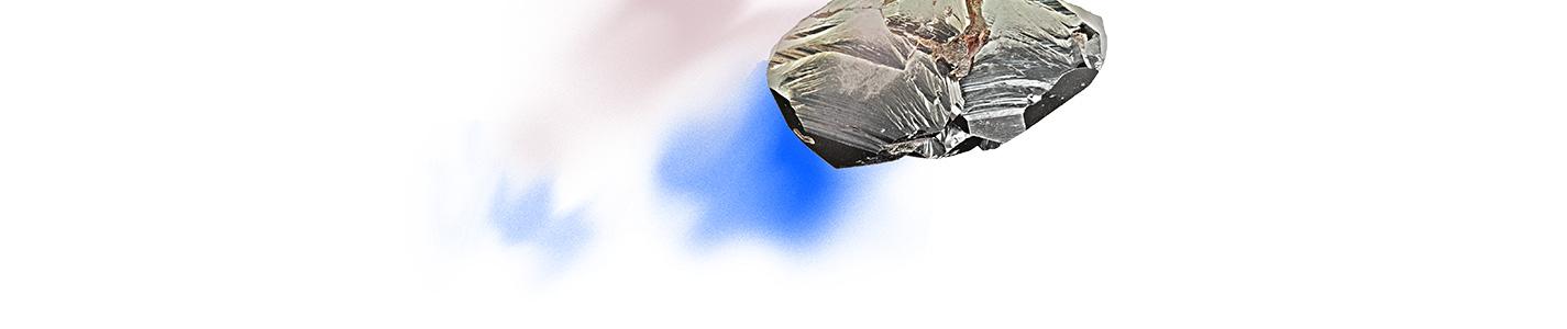 rocher dessous rose bleu