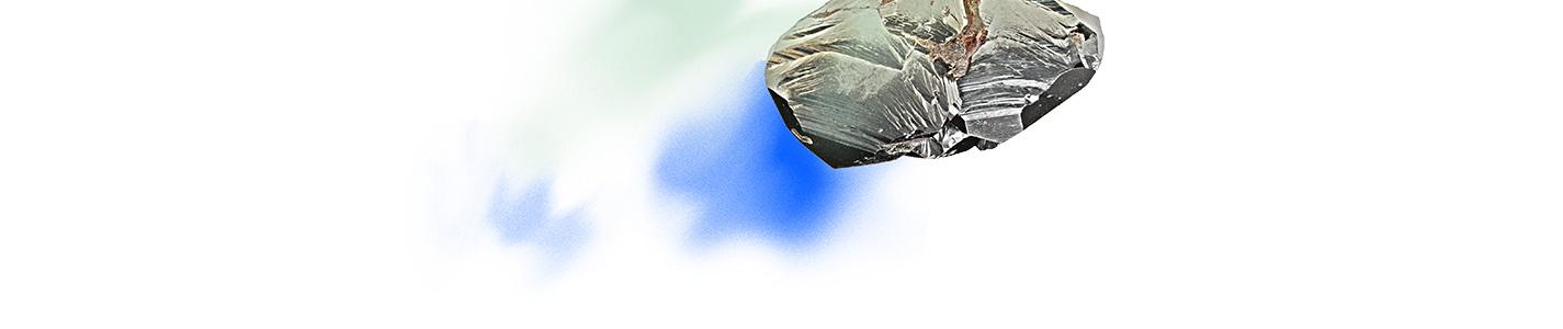 rocher dessous bleu