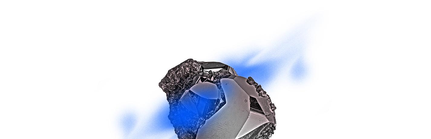 rocher dessus bleu